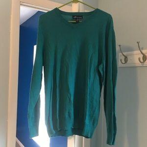 Teal V-Neck Sweater